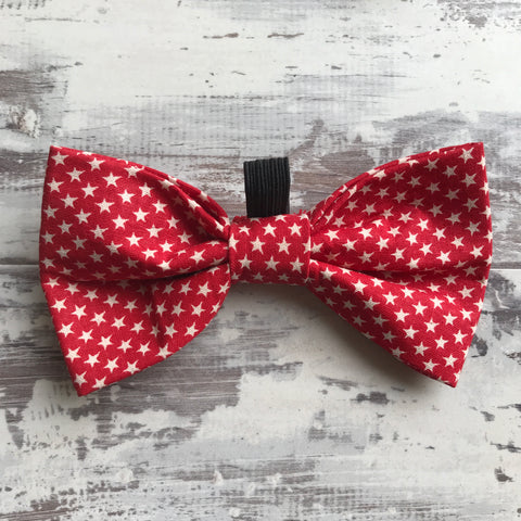 Little Red Stars Bow Tie