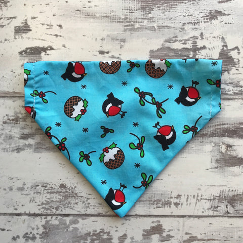 Robins & Puddings - Blue - Dog Bandana