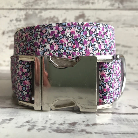 METAL SALE - Lilac Speckles - Dog Collar