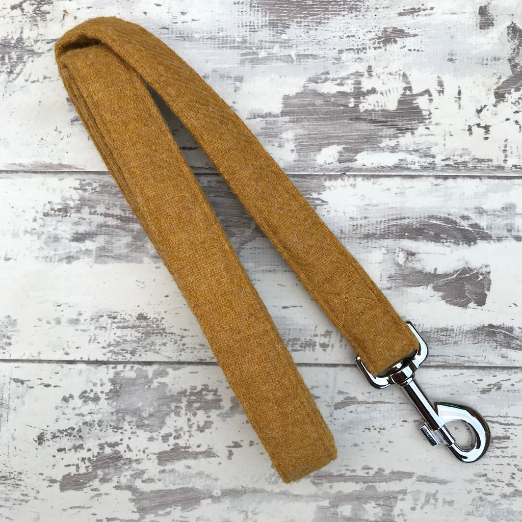 Mustard Tweed Dog Lead