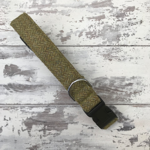 Olive Tweed Dog Collar