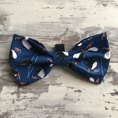 Skating Penguins Bow Tie