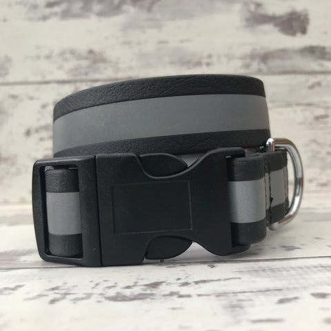 Black Reflective Dirty Dog Collar