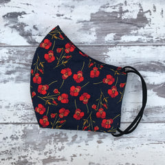 Liberty Poppies Face Mask