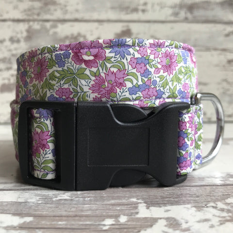 SALE - Lilac Floral - Dog Collar