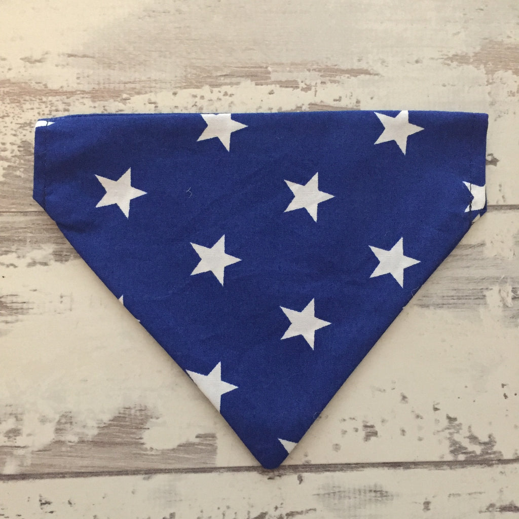 The Black Dog Company Blue with White Stars Bandana