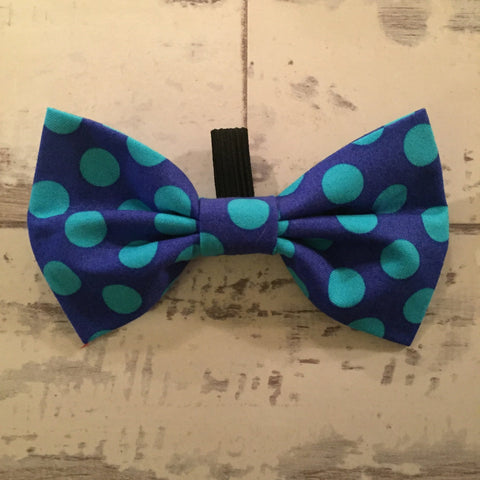 The Black Dog Company Bow Ties Cobalt Blue Spots Bow Tie