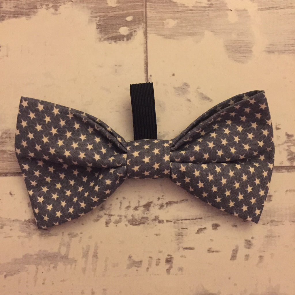 The Black Dog Company Bow Ties Little Grey Stars Bow Tie