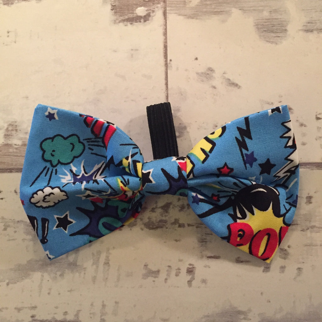 The Black Dog Company Bow Ties Pow Smash Bang - Blue - Bow Tie