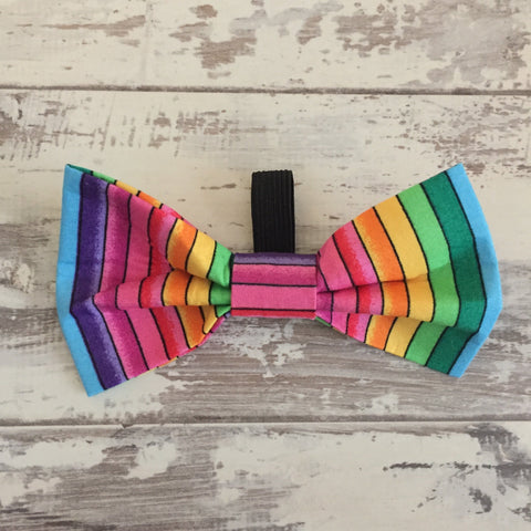 The Black Dog Company Bow Ties Rainbow Stripes Bow Tie