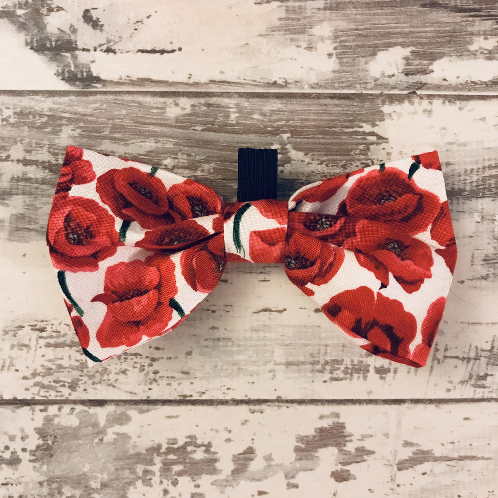 The Black Dog Company Bow Ties Red Poppies Bow Tie