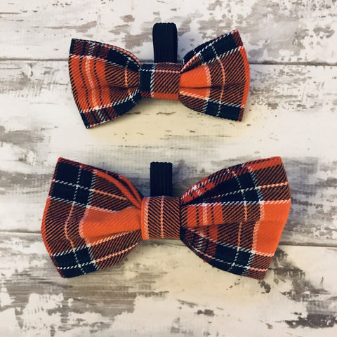 The Black Dog Company Bow Ties Small Sienna Tartan Bow Tie