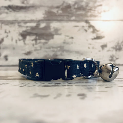 The Black Dog Company Cat Collars Navy Stars - Cat Collar