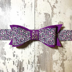 The Black Dog Company Felt Bows Lilac Speckles Felt Bows