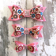 The Black Dog Company Felt Bows Pink Aurelia Circles Felt Bows
