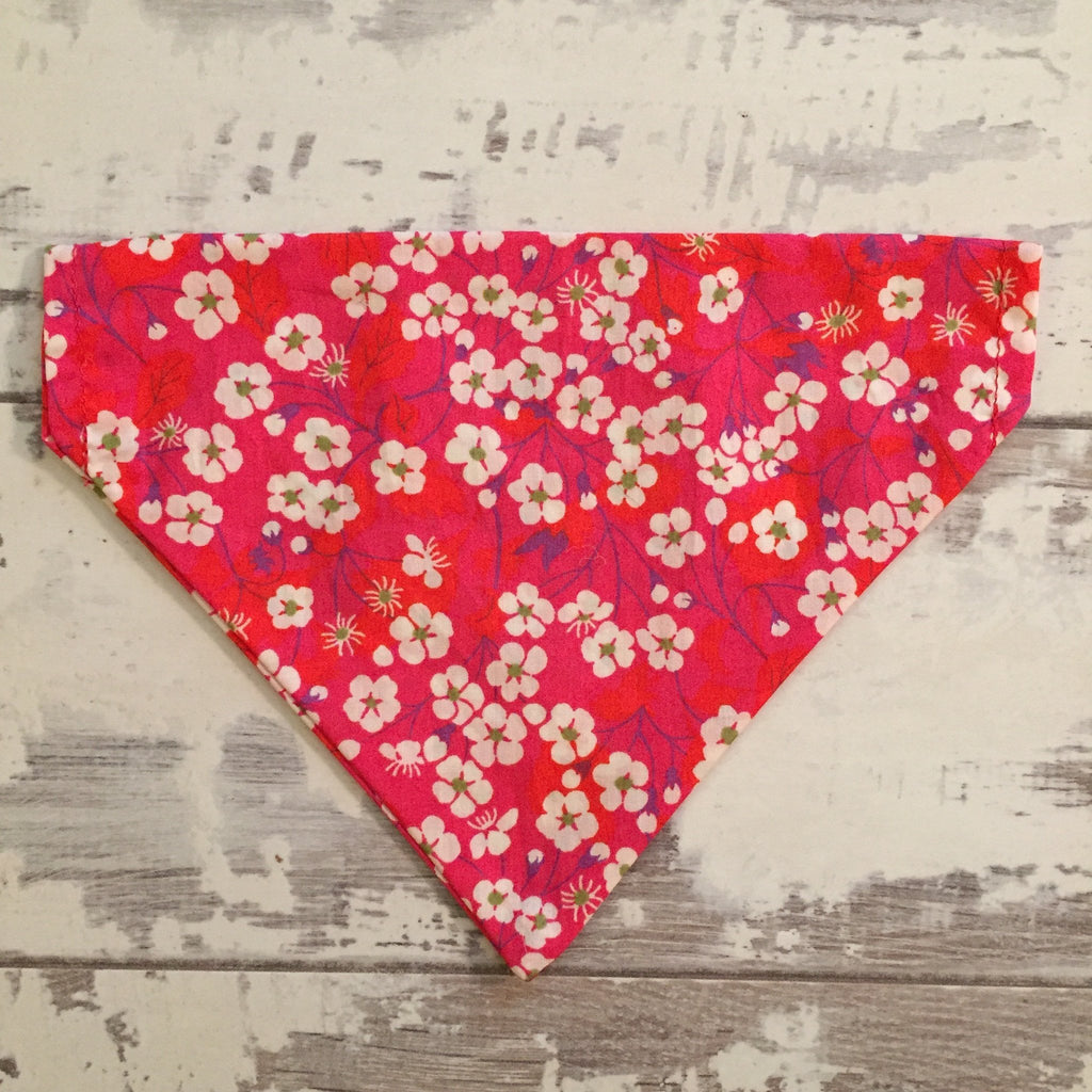 The Black Dog Company Handmade Dog Bandanas Japanese Cherry Blossom Bandana