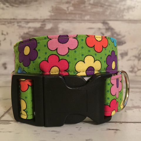 The Black Dog Company Handmade Dog Collars A bunch of Daisies  - Dog Collar