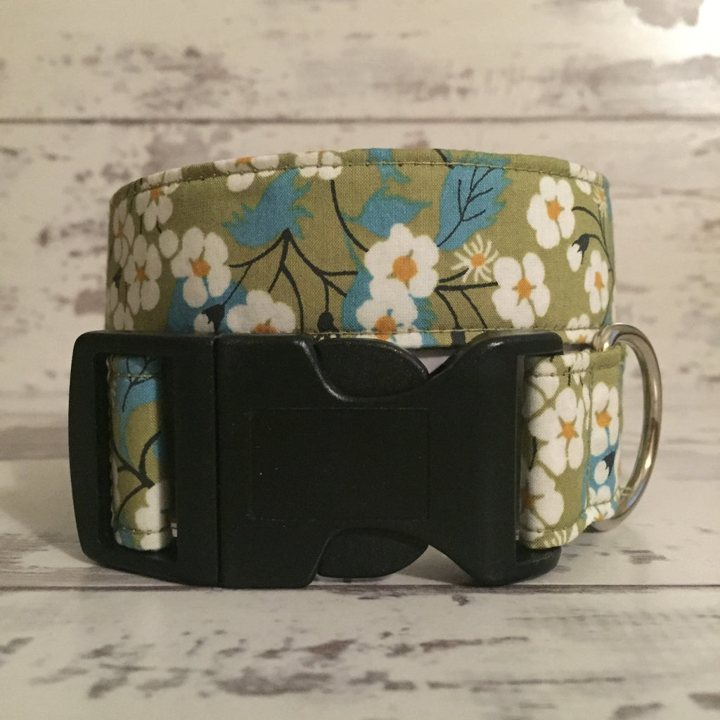 The Black Dog Company Handmade Dog Collars Apple Blossom - Dog Collar