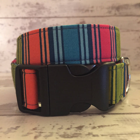 The Black Dog Company Handmade Dog Collars Bold Stripe - Dog Collar