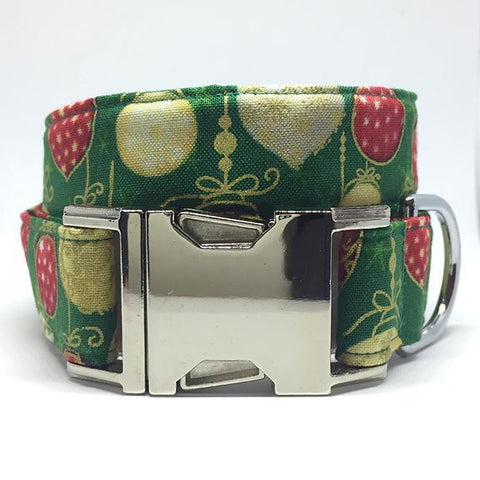 The Black Dog Company Handmade Dog Collars Christmas Baubles - Dog Collar