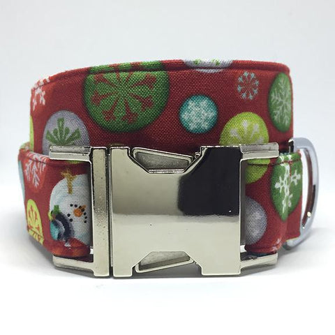 The Black Dog Company Handmade Dog Collars Christmas Circles - Dog Collar