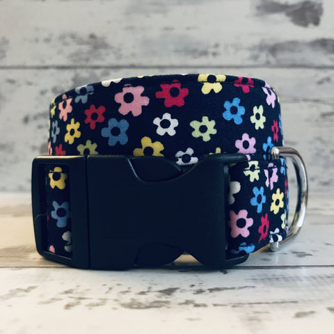 The Black Dog Company Handmade Dog Collars Extra Small / Plastic Little Daises - Dog Collar