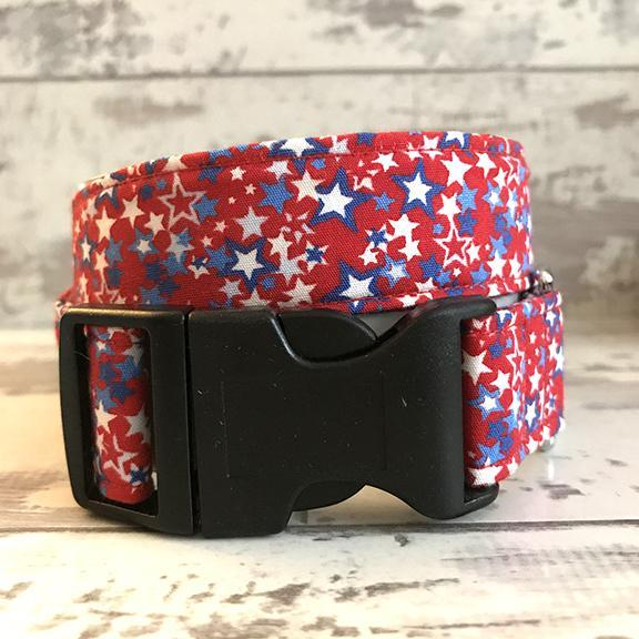 The Black Dog Company Handmade Dog Collars Extra Small / Plastic / Red **NEW** Milky Way - Dog Collar