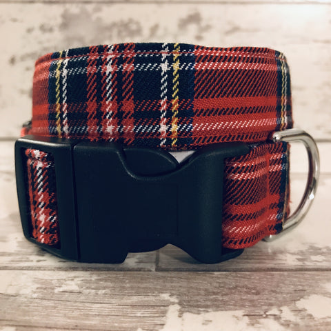 The Black Dog Company Handmade Dog Collars Extra Small / Plastic Stewart Tartan - Dog Collar