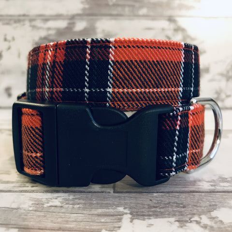 The Black Dog Company Handmade Dog Collars Extra Small Sienna Tartan - Dog Collar