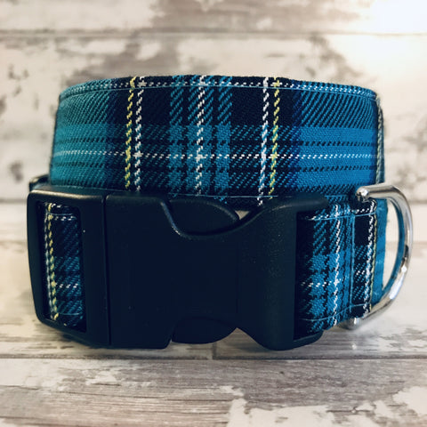 The Black Dog Company Handmade Dog Collars Extra Small Twilight Tartan - Dog Collar