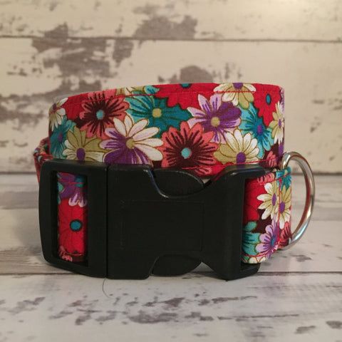 The Black Dog Company Handmade Dog Collars Flower Power - Dog Collar