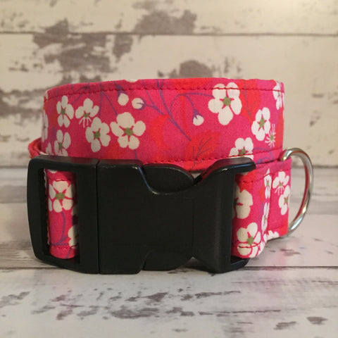 The Black Dog Company Handmade Dog Collars Japanese Cherry Blossom - Dog Collar