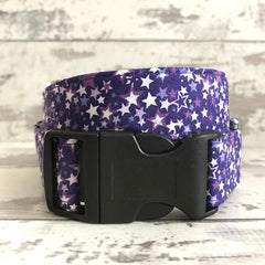 The Black Dog Company Handmade Dog Collars Large / Plastic / Purple **NEW** Milky Way - Dog Collar