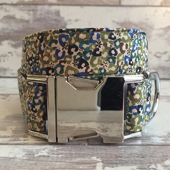The Black Dog Company Handmade Dog Collars Moss Speckles - Dog Collar