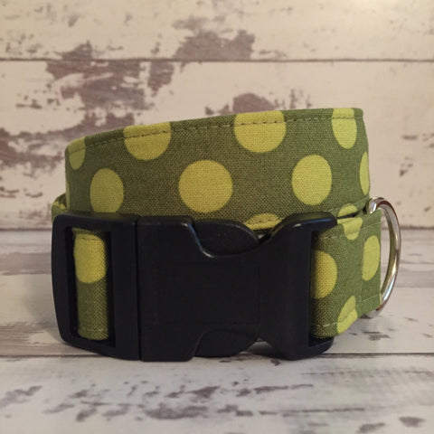 The Black Dog Company Handmade Dog Collars Moss Spots - Dog Collar