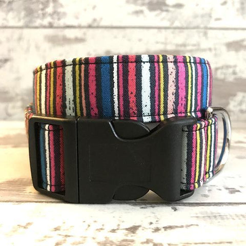 The Black Dog Company Handmade Dog Collars **NEW** Chalk Stripes - Dog Collar