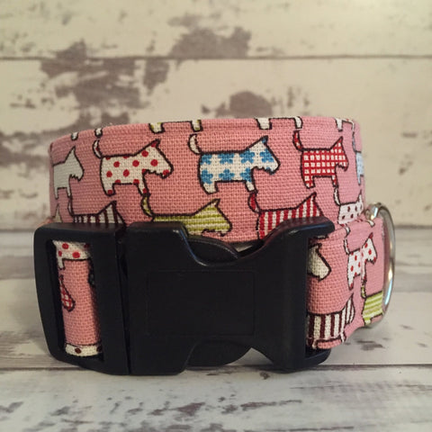 The Black Dog Company Handmade Dog Collars Pink Dogs - Dog Collar