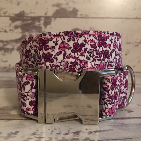 The Black Dog Company Handmade Dog Collars **SECONDS** Purple Meadow - Dog Collar
