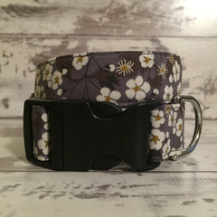 The Black Dog Company Handmade Dog Collars Slate Blossom - Dog Collar