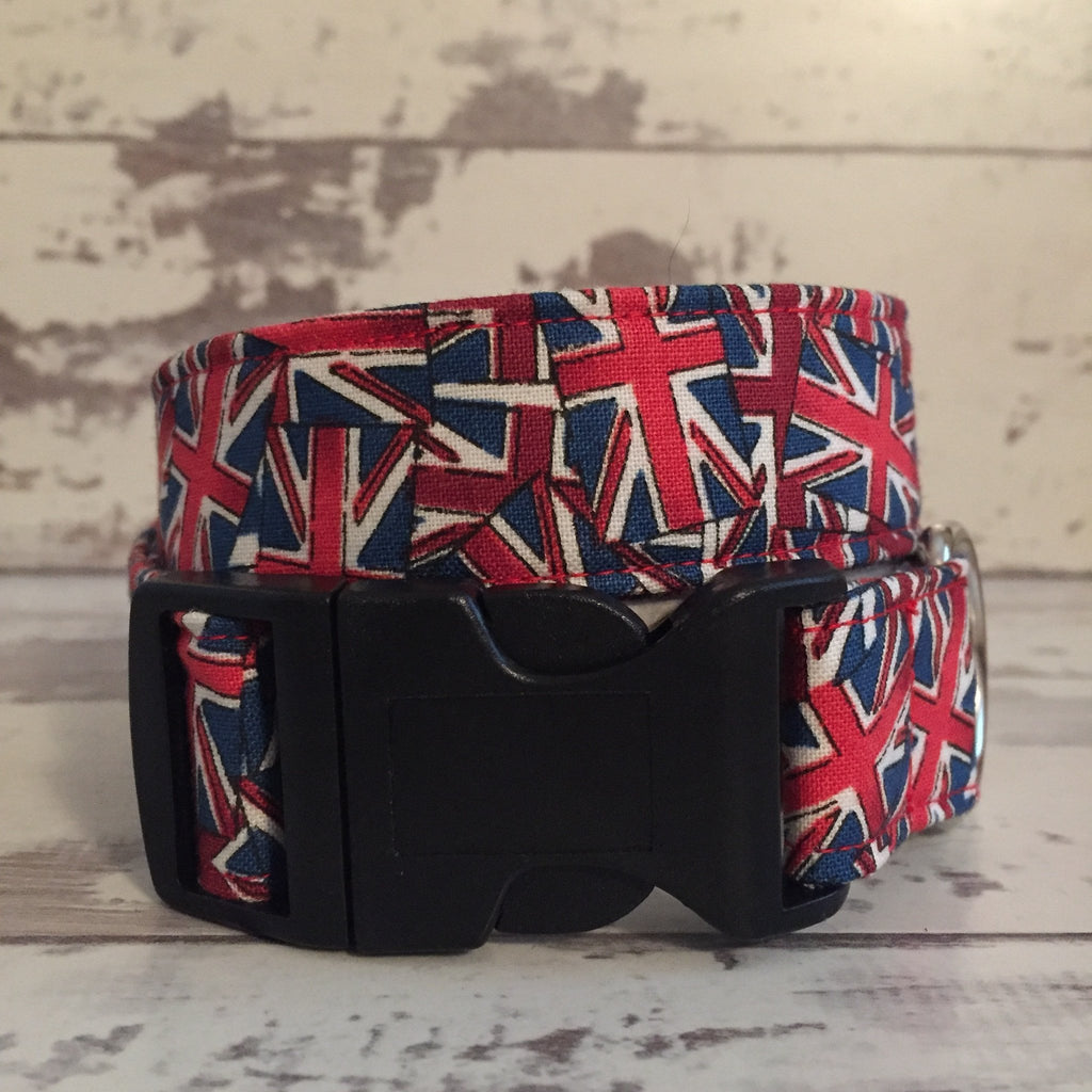 The Black Dog Company Handmade Dog Collars Union Jack - Dog Collar