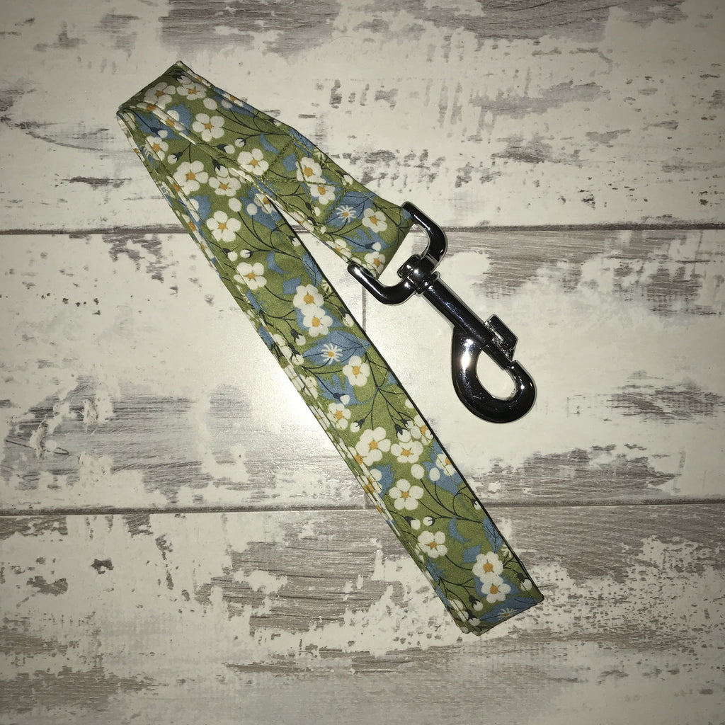 The Black Dog Company Handmade Dog Leads Apple Blossom - Dog Lead