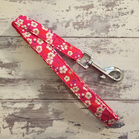The Black Dog Company Handmade Dog Leads Japanese Cherry Blossom - Dog Lead