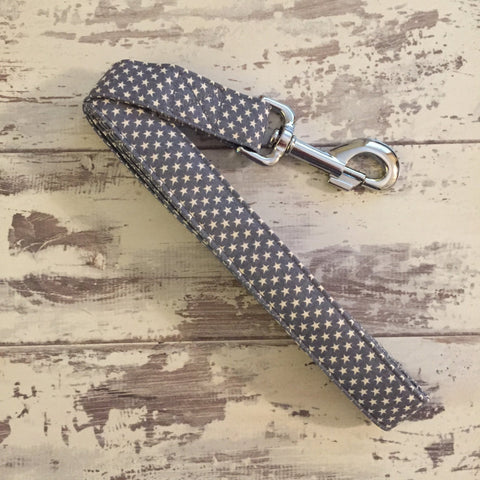 The Black Dog Company Handmade Dog Leads Large / Metal Little Grey Stars - Dog Lead