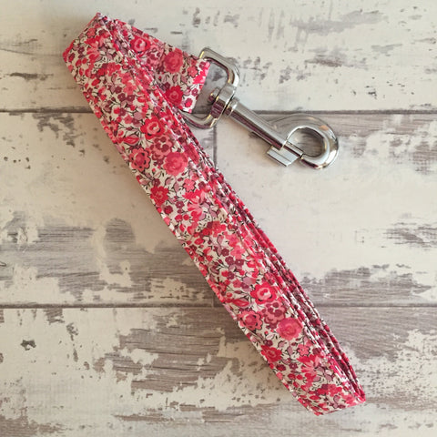 The Black Dog Company Handmade Dog Leads Liberty Phoebe Floral - Dog Lead