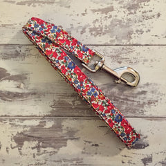 The Black Dog Company Handmade Dog Leads Liberty Red Floral - Dog Lead