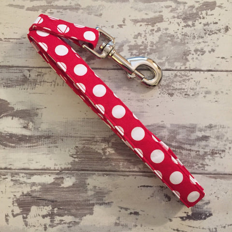 The Black Dog Company Handmade Dog Leads Minnie Spots - Dog Lead