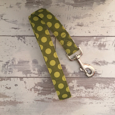 The Black Dog Company Handmade Dog Leads Moss Spots - Dog Lead