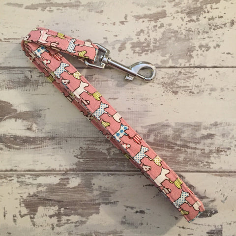 The Black Dog Company Handmade Dog Leads Pink Dogs - Dog Lead