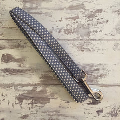 The Black Dog Company Handmade Dog Leads Small/Medium / Metal Little Grey Stars - Dog Lead