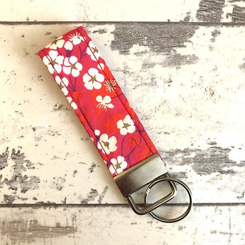 The Black Dog Company Key Ring Fob Japanese Cherry Blossom Key Ring Fob